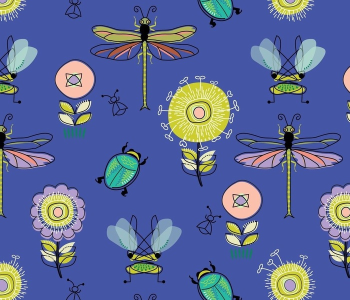 Insects-Jewel-Tone-Purple-DragonFly
