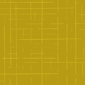 Linework plaid mustard