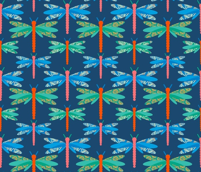 Patterned Dragonflies
