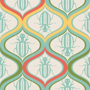 Retro Bugs Wallpaper