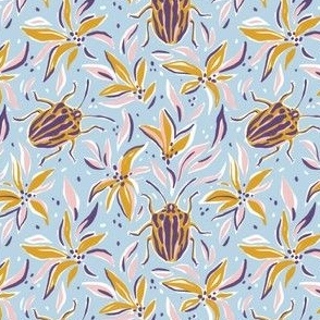 Beetles and lilies