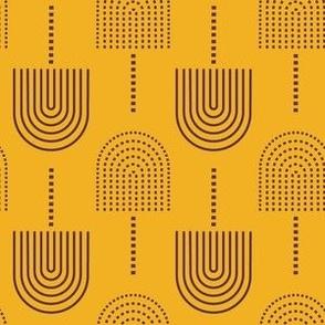 fans mustard brown