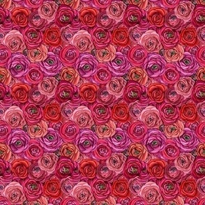 Ranunculus red & Pink floral // red Rose // pink rose  //Ranunculus flower // Mini Floral //