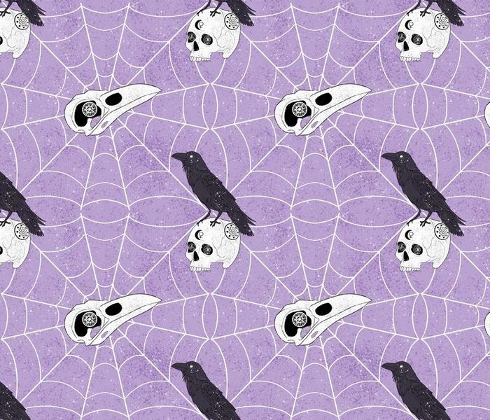 Skulls N Crows lavender