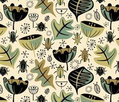 Retro Beetle Garden - Moss - Large