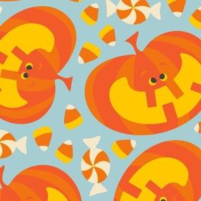 Happy Halloween Jolly Jack-O-Lantern Pumpkin Candy -LARGE Scale - UnBlink Studio Jackie Tahara