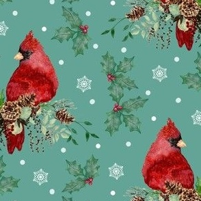 Birds Visit Your Christmas Swags