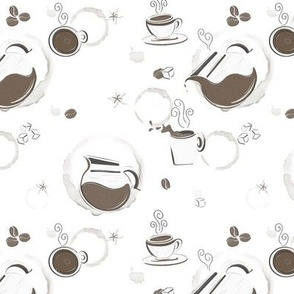 Coffee Stain Pattern