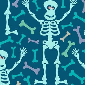 Mr. Spooky Happy Halloween Friendly Skeleton Bones in Pastels - LARGE Scale - UnBlink Studio Jackie Tahara