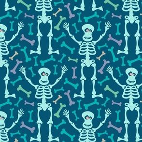 Mr. Spooky Happy Halloween Friendly Skeleton Bones in Pastels - SMALL Scale - UnBlink Studio Jackie Tahara