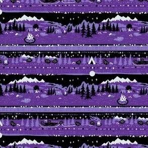 Camp Stargazer in Purple and Black Medium Small Scale
