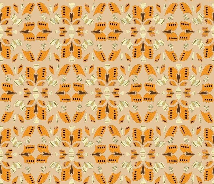 The retro butterfly-orange