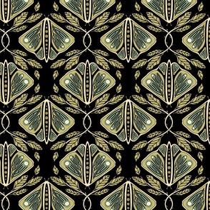 Vintage Butterflies - Large - Dark Moss