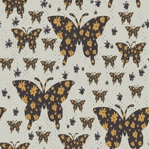 butterfly floral mint