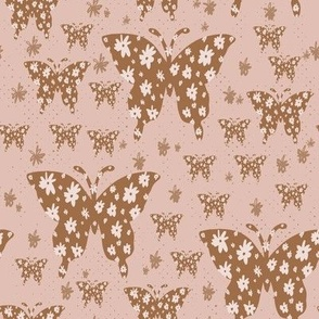 butterfly floral pink