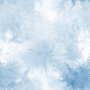 watercolor tie dye bloom - blue