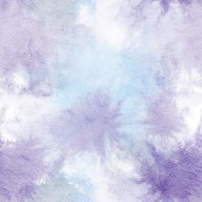 watercolor tie dye - blue/purple