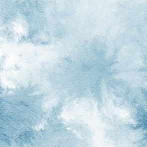 watercolor tie dye - denim blue