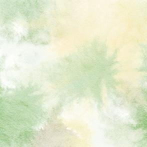 watercolor tie dye - lemon lime