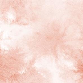 watercolor tie dye - peach