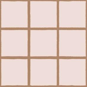 brushy grid pink