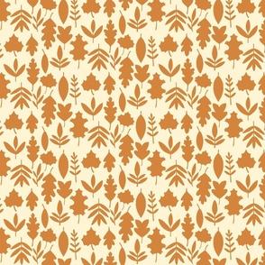 Autumn Leaves Silhouette - Cream
