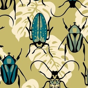 Beetles - Teal - Large