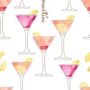 Martinis Watercolor