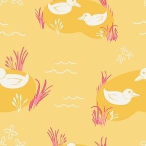 Sunbathing Puddle Ducks
