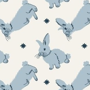 Meadow Rabbits in Powder