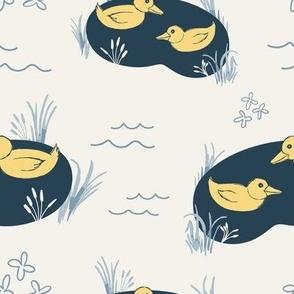 Moonbathing Puddle Ducks
