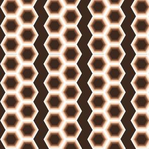 Geometric Stripes Tan