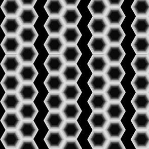 Geometric Stripes B&W