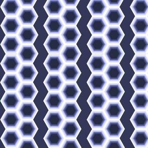 Geometric Stripes Blue