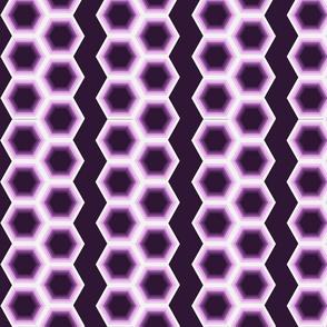 Geometric Stripes Purple
