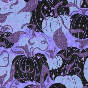Black and Pastel Purple Pumpkin Patch