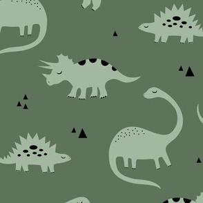 Dino olive green