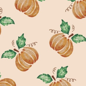 Pumkin Spice all over large scale for home decor in sweet autumn earthy tones - great for costumes