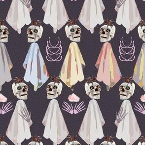 Halloween zombie skull ghost skeleton