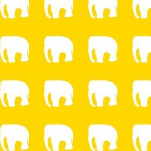 elephants on yellow