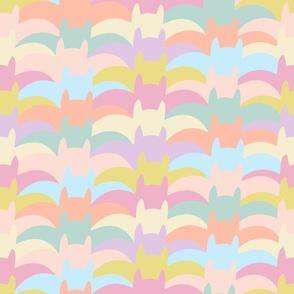 Graphic Pastel Halloween Bats: Southwestern Style