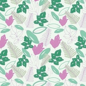 Green and Lilac Leaves