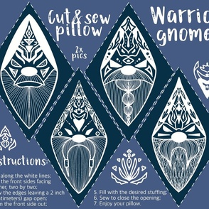 Warrior Gnomes Cut and Sew Pillows