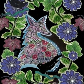 Foxy Woodland Watercolor - Nocturnal Animals Challenge