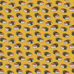 Spam Musubi on Yellow - Tiny