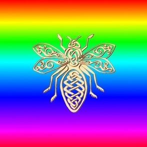 Celtic Bee Rainbow
