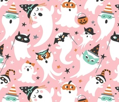 Peek A Boo Party - Halloween Ghost - Pink Large Scale