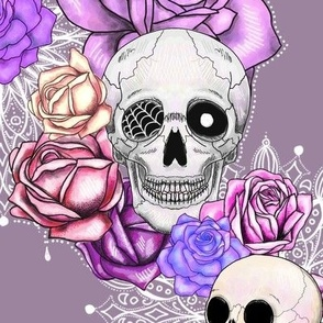 Delicate_spooky_skulls_and_roses_floral
