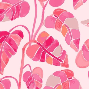 Jumbo // Multi Colored Pink Leaves