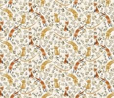 Baby Woodland animals - fox owl leopard